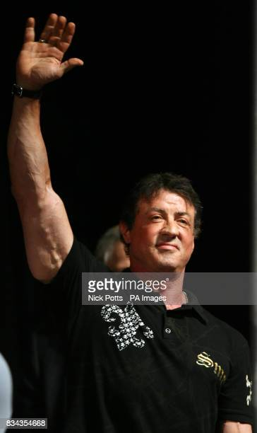 Actor Sylvester Stallone at Planet Hollywood hotel in Las Vegas USA