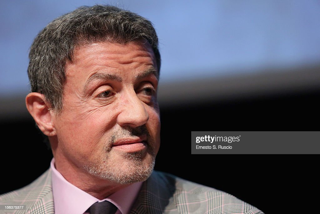 Actor Sylvester Stallone at the 'Bullet To The Head' Press Conference during the 7th Rome Film Festival at the Auditorium Parco Della Musica on November 14, 2012 in Rome, Italy.