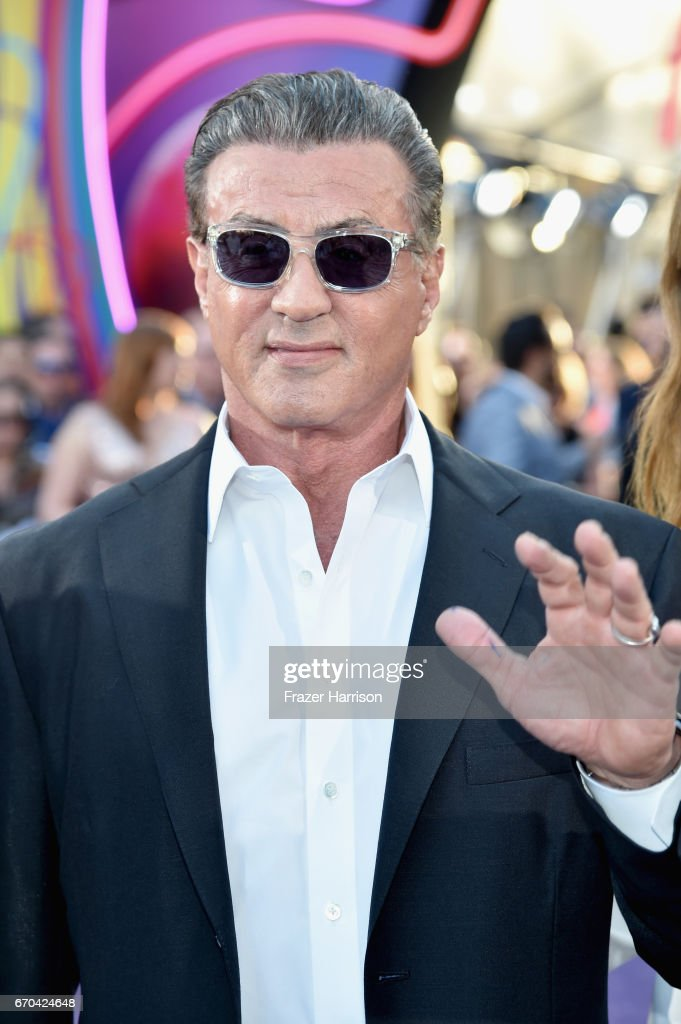 Actor Sylvester Stallone at the premiere of Disney and Marvel's 'Guardians Of The Galaxy Vol. 2' at Dolby Theatre on April 19, 2017 in Hollywood, California.