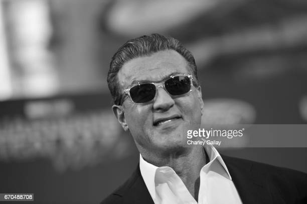 "Actor Sylvester Stallone at The World Premiere of Marvel Studios' ""Guardians of the Galaxy Vol 2"" at Dolby Theatre in Hollywood CA April 19th 2017"