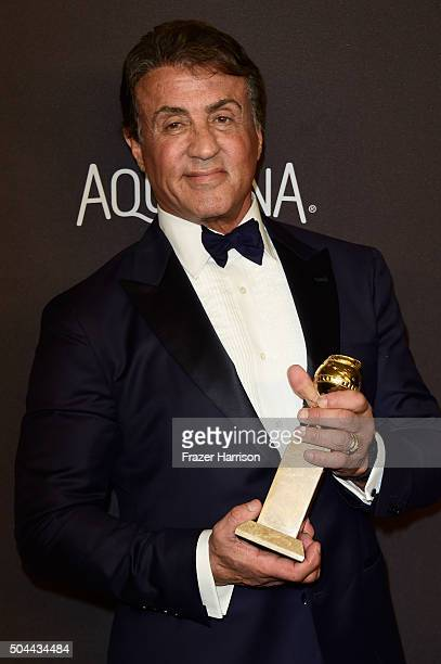 Actor Sylvester Stallone attends InStyle and Warner Bros 73rd Annual Golden Globe Awards PostParty at The Beverly Hilton Hotel on January 10 2016 in...