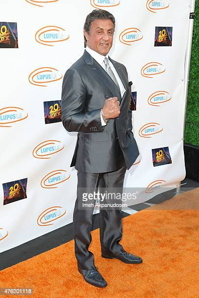 Actor Sylvester Stallone attends Lupus LA's Orange Ball A Night Of Superheroes at Fox Studio Lot on June 6 2015 in Century City California