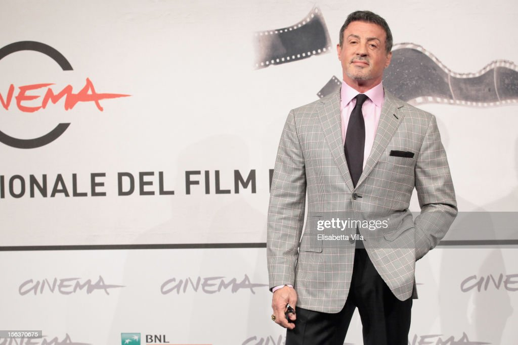 Actor Sylvester Stallone attends the 'Bullet To The Head' Photocall during the 7th Rome Film Festival at the Auditorium Parco Della Musica on...