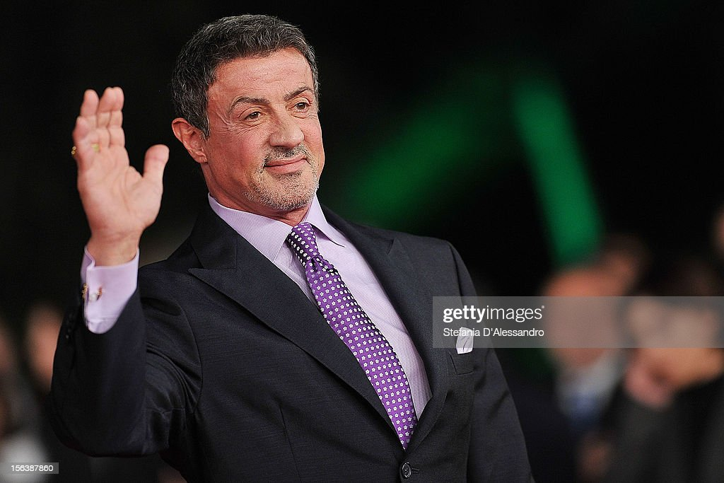 Actor <a gi-track='captionPersonalityLinkClicked' href=/galleries/search?phrase=Sylvester+Stallone&family=editorial&specificpeople=202604 ng-click='$event.stopPropagation()'>Sylvester Stallone</a> attends the 'Bullet To The Head' Premiere during the 7th Rome Film Festival at the Auditorium Parco Della Musica on November 14, 2012 in Rome, Italy.