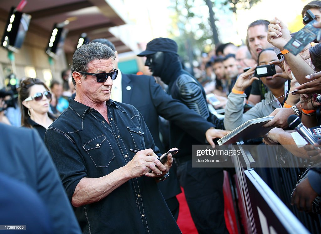 Actor Sylvester Stallone attends the 'Escape Plan' screening and red carpet during Comic-Con International 2013 at Reading Cinemas Gaslamp on July 18, 2013 in San Diego, California.
