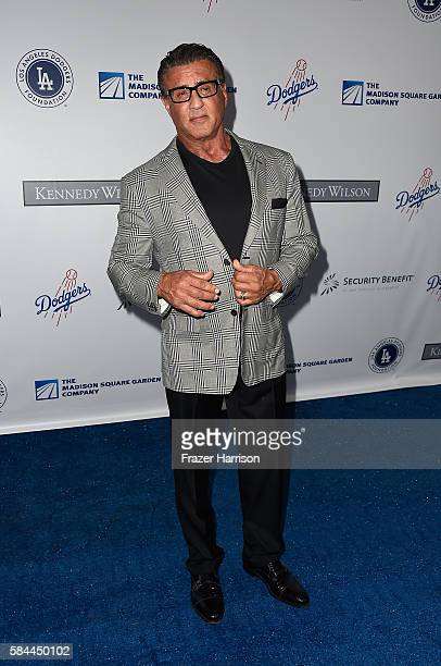 Actor Sylvester Stallone attends the Los Angeles Dodgers Foundation Blue Diamond Gala at Dodger Stadium on July 28 2016 in Los Angeles California