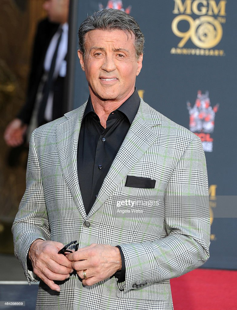 Actor <a gi-track='captionPersonalityLinkClicked' href=/galleries/search?phrase=Sylvester+Stallone&family=editorial&specificpeople=202604 ng-click='$event.stopPropagation()'>Sylvester Stallone</a> attends the Metro-Goldwyn-Mayer 90th Anniversary Celebration at TCL Chinese Theatre on January 22, 2014 in Hollywood, California.