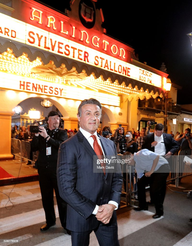 Actor Sylvester Stallone attends the Montecito Award at the Arlington Theater at the 31st Santa Barbara International Film Festival on February 9...