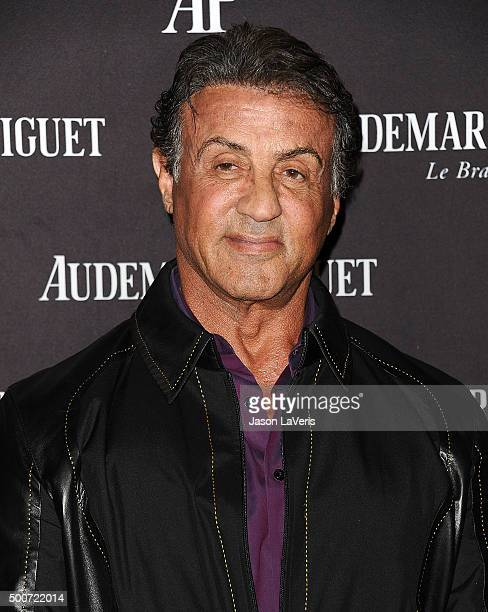 Actor Sylvester Stallone attends the opening of Audemars Piguet on December 9 2015 in Beverly Hills California