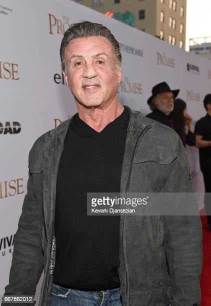 Actor Sylvester Stallone attends the premiere of Open Road Films' 'The Promise' at TCL Chinese Theatre on April 12 2017 in Hollywood California