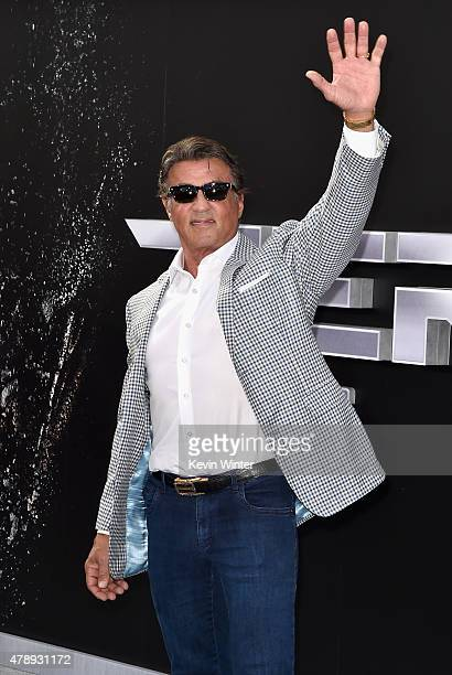 Actor Sylvester Stallone attends the LA Premiere of Paramount Pictures' 'Terminator Genisys' at the Dolby Theatre on June 28 2015 in Hollywood...