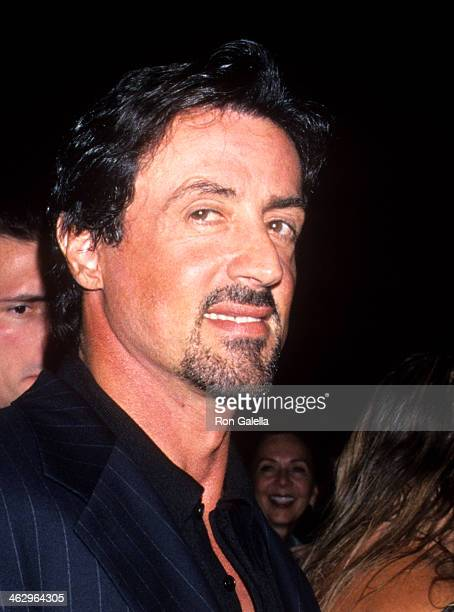 Actor Sylvester Stallone attends the Versace Fashion Show on September 12 1999 at Roseland Ballroom in New York City