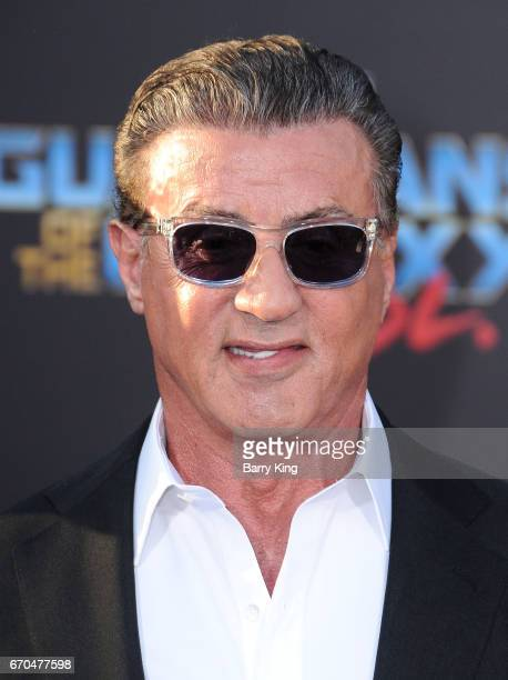 Actor Sylvester Stallone attends world premiere of Disney and Marvel's' 'Guardians Of The Galaxy 2' at Dolby Theatre on April 19 2017 in Hollywood...