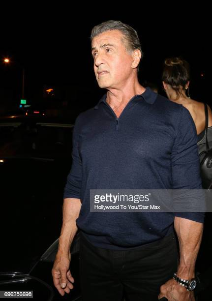 Actor Sylvester Stallone is seen on June 14 2017 in Los Angeles CA