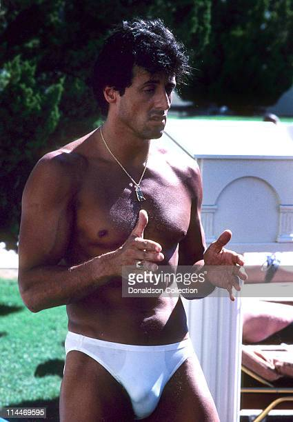 Actor Sylvester Stallone poses for a portrait in circa 1985 in Los Angeles California