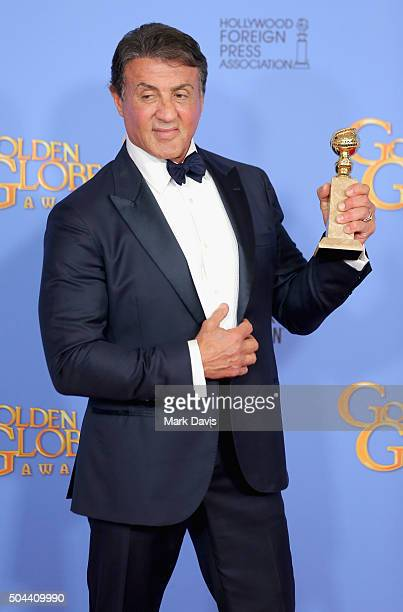 Actor Sylvester Stallone winner of Best Performance by an Actor in a Supporting Role in any Motion Picture poses in the press room during the 73rd...