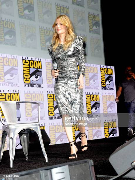 Actor Sylvia Hoeks attends the Warner Bros Pictures 'Blade Runner 2049' Presentation during ComicCon International 2017 at San Diego Convention...