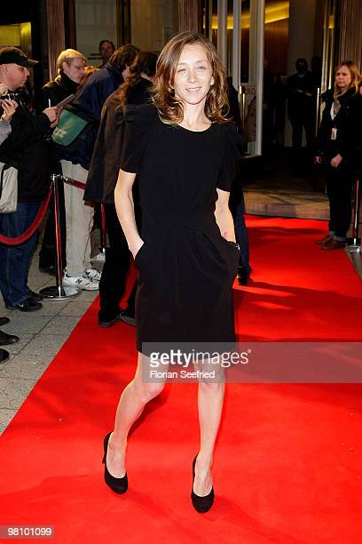 Actor Sylvie Testud attends the premiere of 'Lourdes' at cinema Paris on March 28 2010 in Berlin Germany