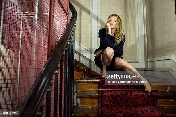 Actor Sylvie Testud is photographed for Paris Match on August 27 2015 in Paris France