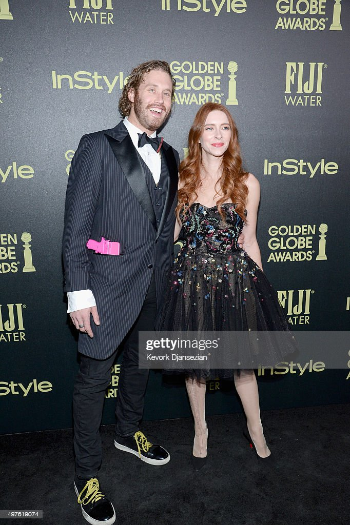 Actor T. J. Miller and Kate Gorney attend Hollywood Foreign Press Association and InStyle Celebration of The 2016 Golden Globe Award Season at Ysabel on November 17, 2015 in West Hollywood, California.