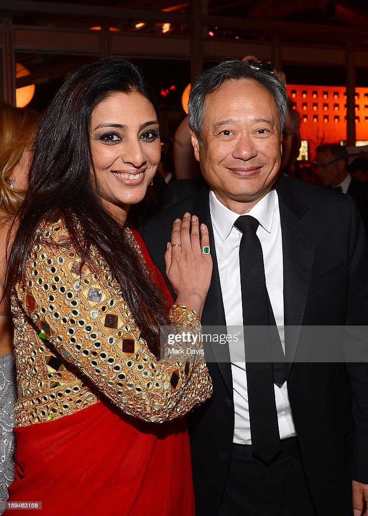 Actor Tabu (L) and director Ang Lee attend the FOX After Party for the 70th Annual Golden Globe Awards held at The FOX Pavillion at The Beverly Hilton Hotel on January 13, 2013 in Beverly Hills, California.