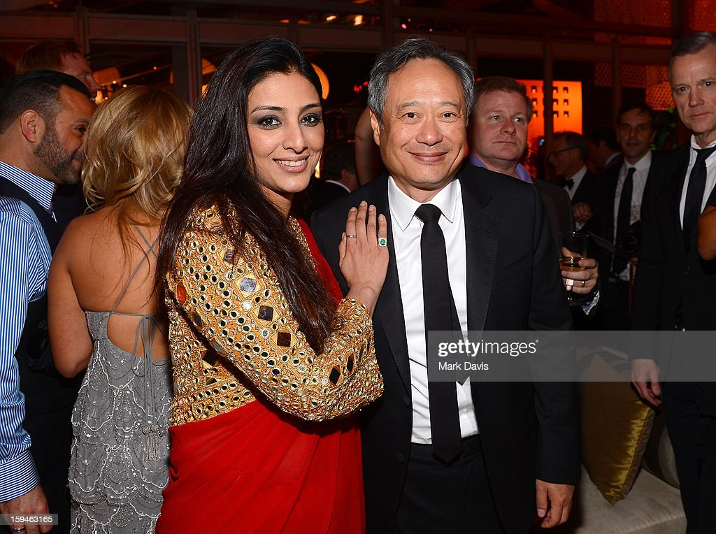 Actor Tabu (L) and director <a gi-track='captionPersonalityLinkClicked' href=/galleries/search?phrase=Ang+Lee&family=editorial&specificpeople=215104 ng-click='$event.stopPropagation()'>Ang Lee</a> attend the FOX After Party for the 70th Annual Golden Globe Awards held at The FOX Pavillion at The Beverly Hilton Hotel on January 13, 2013 in Beverly Hills, California.