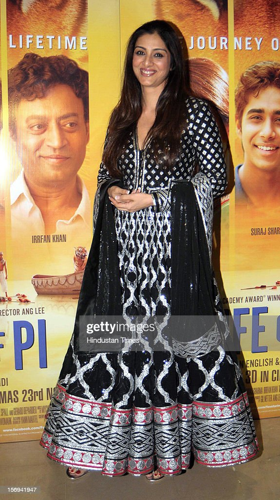 Actor Tabu during the special screening of 'Life of PI' movie at PVR Juhu on November 21, 2012, in Mumbai, India. The film opens on November 13, 2012.