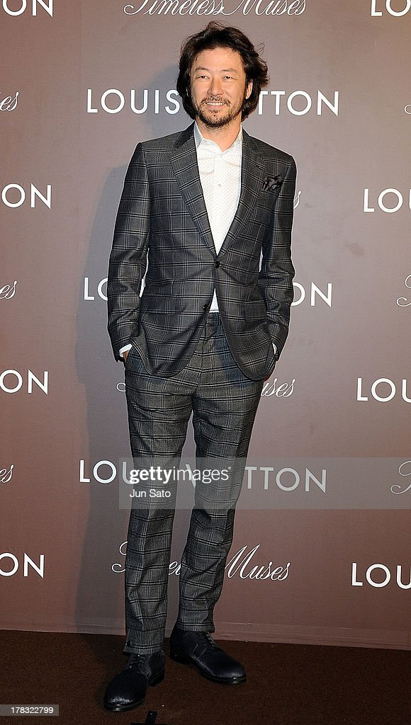 Actor Tadanobu Asano attends Louis Vuitton 'Timeless Muses' exhibition at the Tokyo Station Hotel on August 29, 2013 in Tokyo, Japan.