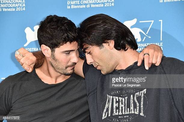 Actor Tahar Rahim and director Fatih Akin attends 'The Cut' photocall during the 71st Venice Film Festival on August 31 2014 in Venice Italy