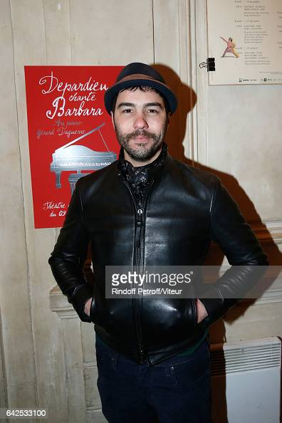 Actor Tahar Rahim attends Gerard Depardieu sings Barbara accompanied on the piano of Barbara by Gerard Daguere who was his Pianist for more than 15...