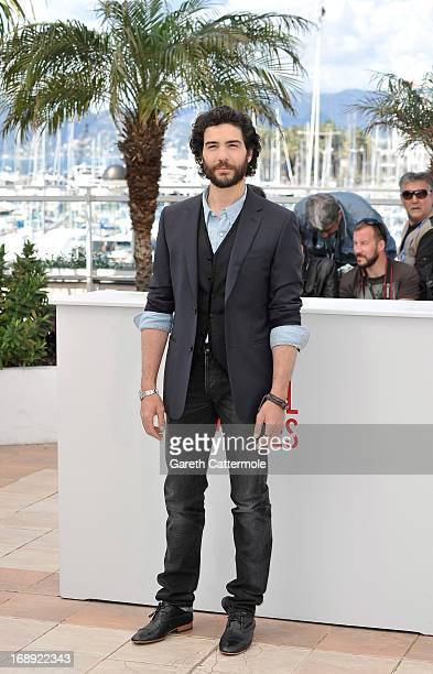 Actor Tahar Rahim attends 'Le Passe' photocall during the 66th Annual Cannes Film Festival at the Palais des Festivals on May 17 2013 in Cannes France