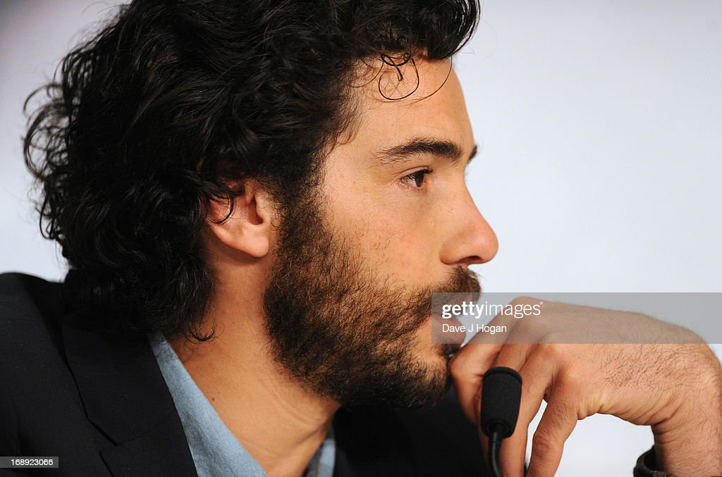 Actor <a gi-track='captionPersonalityLinkClicked' href=/galleries/search?phrase=Tahar+Rahim&family=editorial&specificpeople=5856944 ng-click='$event.stopPropagation()'>Tahar Rahim</a> attends 'Le Passe' Press Conference during the 66th Annual Cannes Film Festival at the Palais des Festivals on May 17, 2013 in Cannes, France.