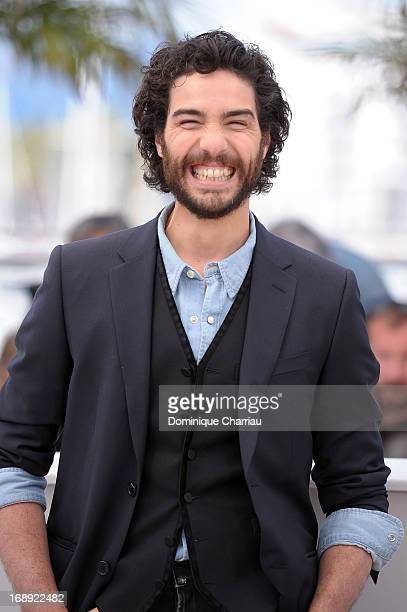 Actor Tahar Rahim attends the photocall for 'Le Passe' during the 66th Annual Cannes Film Festival at Palais des Festivals on May 17 2013 in Cannes...