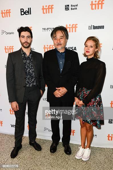 Actor Tahar Rahim Director Kiyoshi Kurosawa and Actress Constance Rousseau attend the premiere of 'Daguerrotype' during the 2016 Toronto...