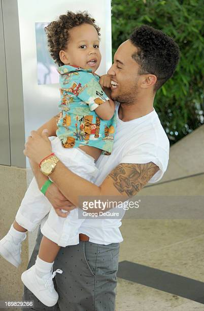 Actor Tahj Mowry and nephew Cree Hardrict arrive at the Elizabeth Glaser Pediatric AIDS Foundation's 24th Annual 'A Time For Heroes' at Century Park...