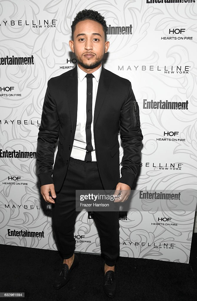 Actor Tahj Mowry attends the Entertainment Weekly Celebration of SAG Award Nominees sponsored by Maybelline New York at Chateau Marmont on January 28, 2017 in Los Angeles, California.