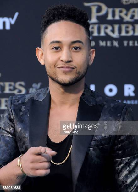Actor Tahj Mowry attends the premiere of Disney's 'Pirates Of The Caribbean Dead Men Tell No Tales' at Dolby Theatre on May 18 2017 in Hollywood...