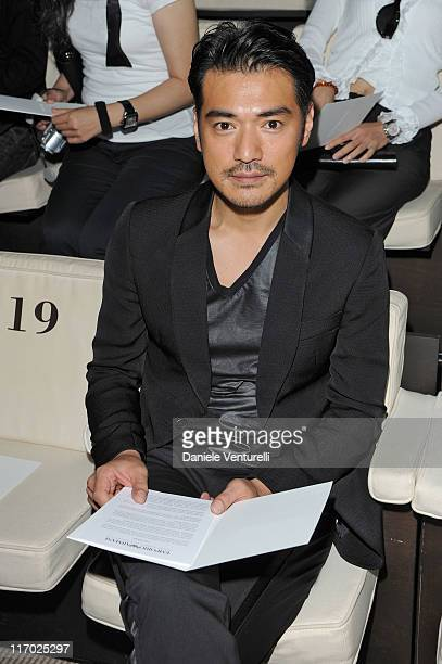 Actor Takeshi Kaneshiro attends the Emporio Armani fashion show as part of Milan Fashion Week Menswear Spring/Summer 2012 on June 19 2011 in Milan...