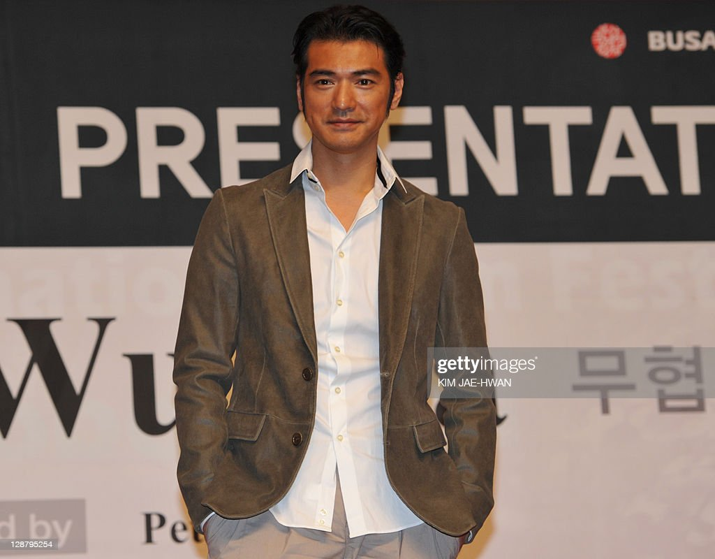 Actor Takeshi Kaneshiro attends the gala presention of 'Wu Xia' at the Busan International Film Festival (BIFF) on October 9, 2011. Asia's largest film festival welcomed a parade of stars to a stunning new 140 million USD home, tipped to become the heart of an exciting new era for cinema in the region.