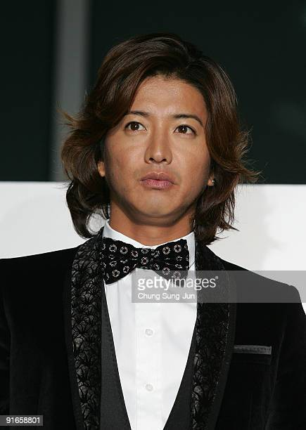 Actor Takuya Kimura attends the photocall for the Gala Presentation 'I Come with the Rain' during the 14th Pusan International Film Festival at the...