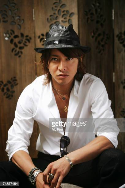 Actor Takuya Kimura poses for a portrait shoot while attending Cannes Film Festival on May 20 2007 in Cannes France