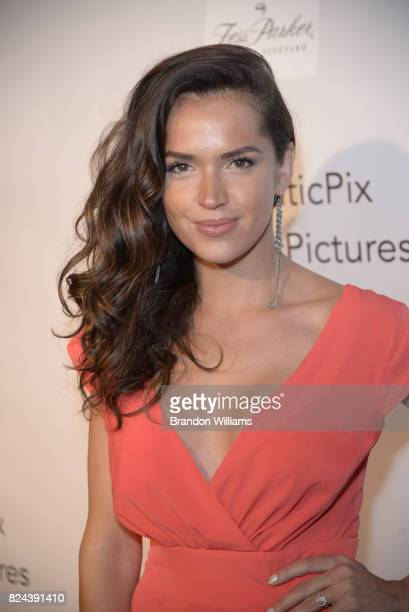 Actor Tamara Duarte attends the reveal of the 'Longmire' coffee table book by Cinematic Pictures Group Publishing at Cinematic Pictures Gallery on...