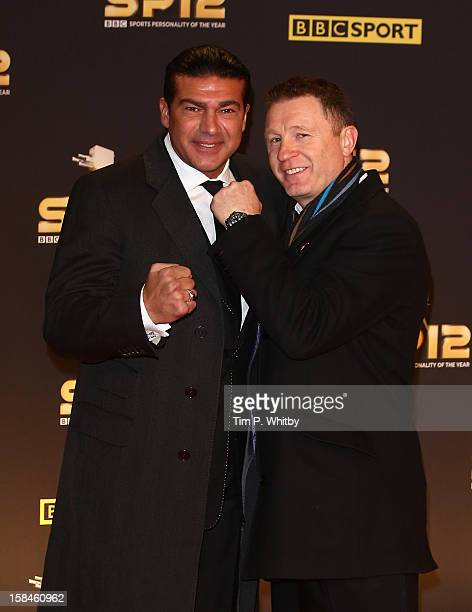 Actor Tamer Hassan and former boxer Steve Collins attend the BBC Sports Personality of the Year Awards at ExCeL on December 16 2012 in London England