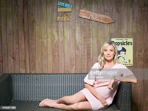 Actor Tamzin Outhwaite is photographed for the Times on July 17 2014 in London England