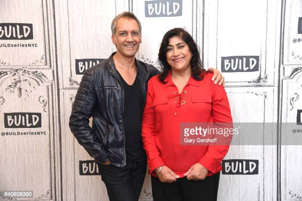 Actor Tanveer Ghani and director Gurinder Chadha visit Build series to discuss the film 'Viceroy's House' at Build Studio on August 29 2017 in New...