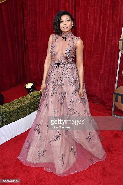 Actor Taraji P Henson attends The 23rd Annual Screen Actors Guild Awards at The Shrine Auditorium on January 29 2017 in Los Angeles California