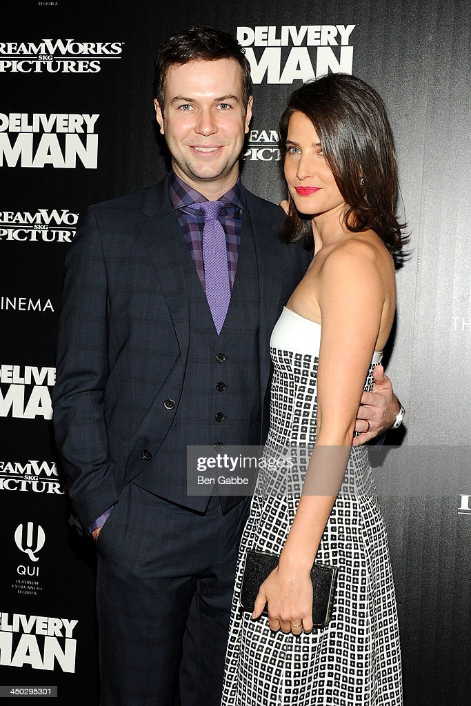 Actor <a gi-track='captionPersonalityLinkClicked' href=/galleries/search?phrase=Taran+Killam&family=editorial&specificpeople=3798325 ng-click='$event.stopPropagation()'>Taran Killam</a> (L) and actress <a gi-track='captionPersonalityLinkClicked' href=/galleries/search?phrase=Cobie+Smulders&family=editorial&specificpeople=739940 ng-click='$event.stopPropagation()'>Cobie Smulders</a> attend DreamWorks Pictures & The Cinema Society host a screening of 'Delivery Man' at the Paley Center For Media on November 17, 2013 in New York City.