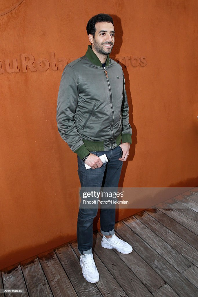 Actor Tarek Boudali attends Day Height of the 2016 French Tennis Open at Roland Garros on May 29, 2016 in Paris, France.