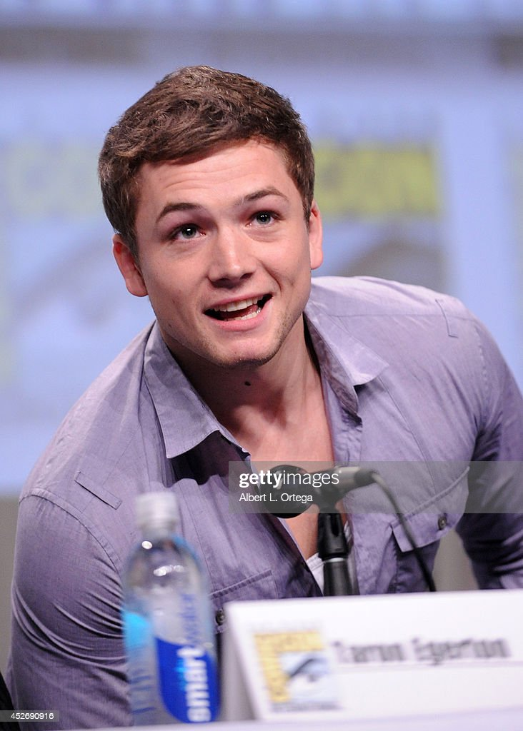 Actor Taron Egerton attends the 20th Century Fox presentation during Comic-Con International 2014 at San Diego Convention Center on July 25, 2014 in San Diego, California.