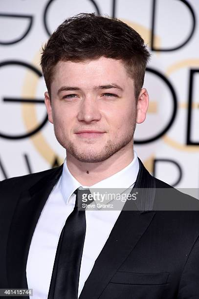 Actor Taron Egerton attends the 72nd Annual Golden Globe Awards at The Beverly Hilton Hotel on January 11 2015 in Beverly Hills California